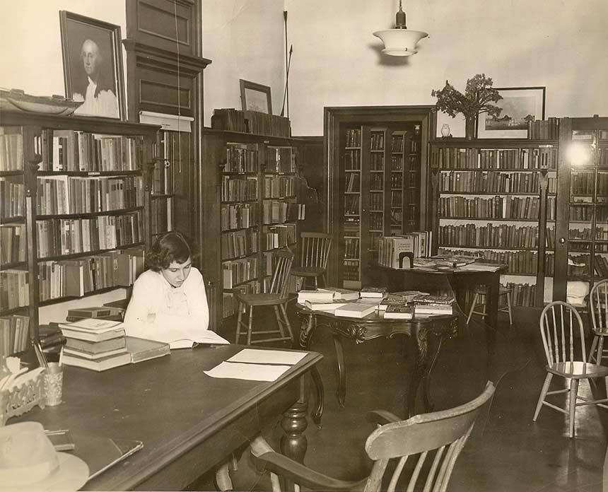 Inside the Sturgis Library old photo