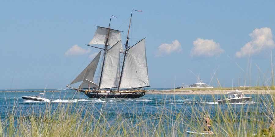 Tall ship sailing from Nantucket