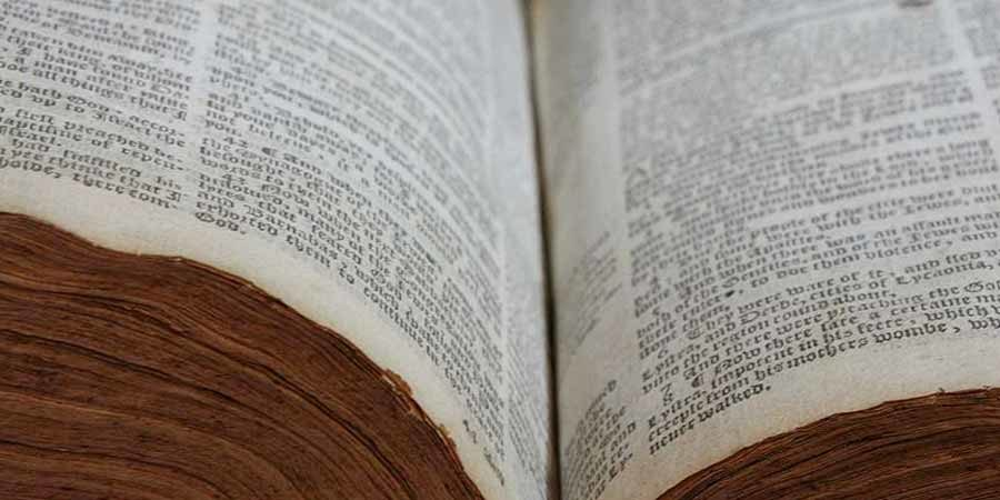 The Lothrop bible open to the middle